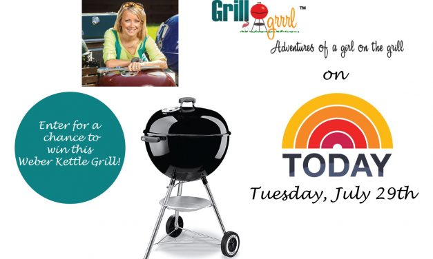Weber Kettle Grill #Giveaway To Celebrate GrillGrrrl on The Today Show