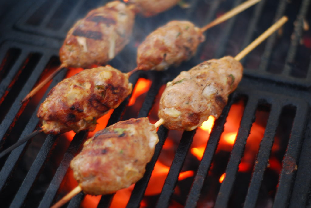 Flavorful lamb meatballs on a stick- these are fun and easy to make and are a great alternative to burgers.