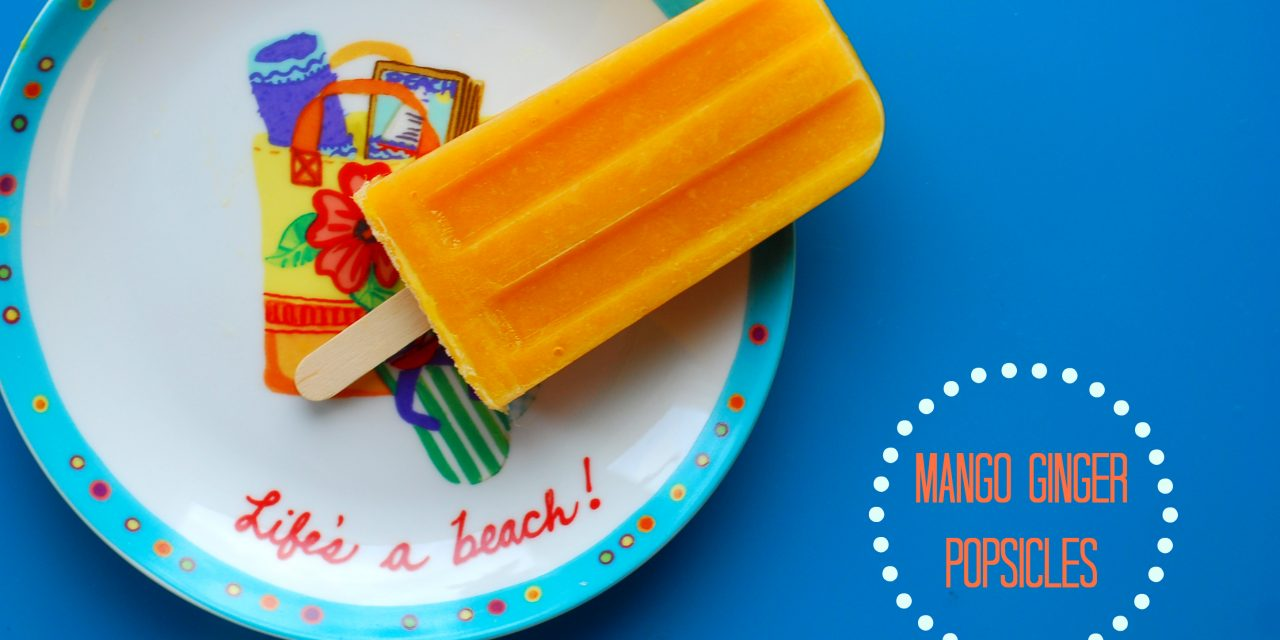 Mango Ginger Popsicles