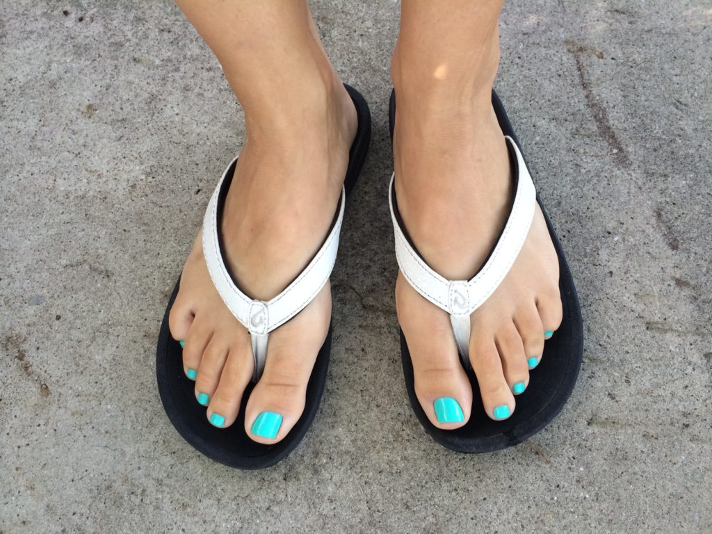 My feet are loving the support these flip flops provide!