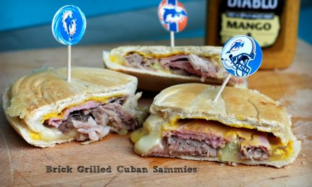 Brick Grilled Cuban Sandwich, plus an El Diablo Mustard Giveaway
