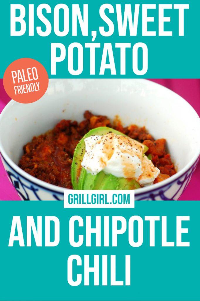 Bison, sweet potato, and chipotle chili