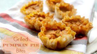 grill girl pumpkin pie bites fall flavors