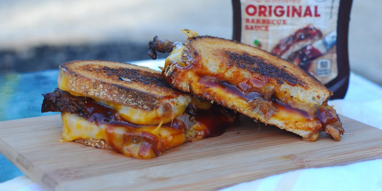 Brisket and Caramelized Onion Grilled Cheese