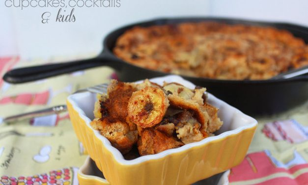 Grilled Banana Bread Pudding