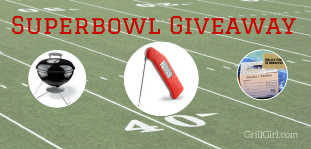 Win a Thermapen, Weber Smokey Joe and FireQube for ultimate grilling success this Superbowl Sunday! Winner is announced this Wednesday.