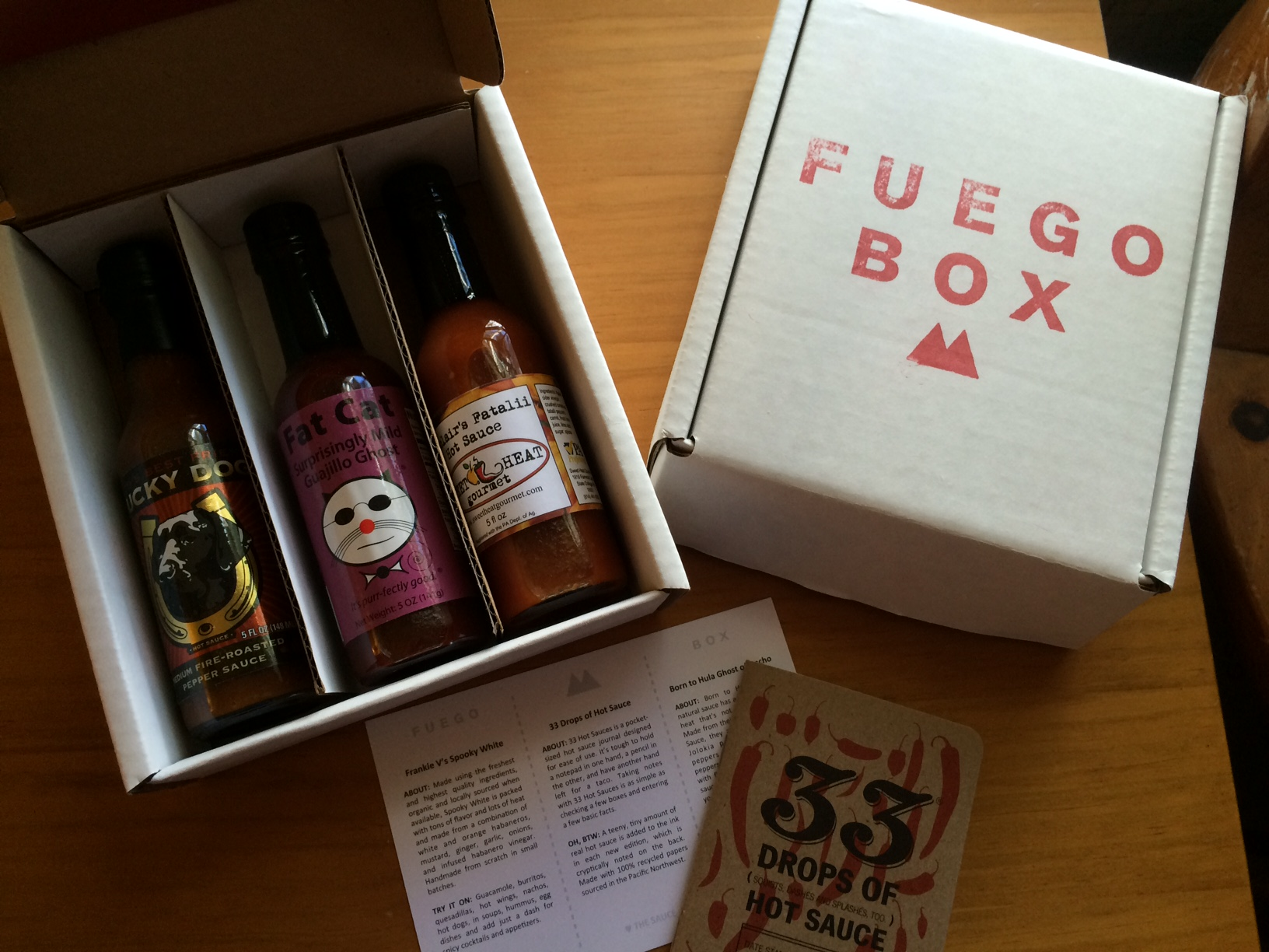 The Fuego box_hotsauce club