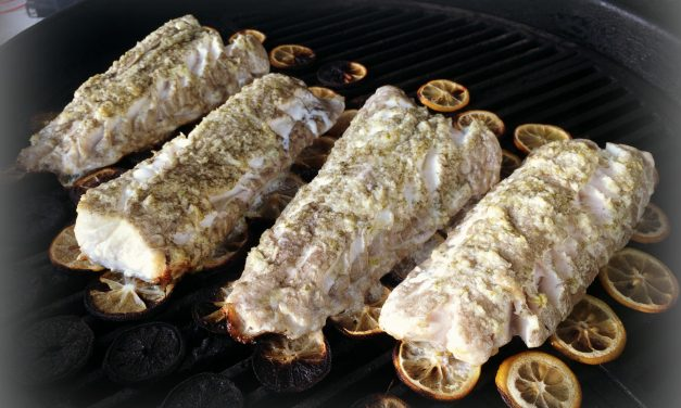 Citrus Grilled Golden Tile Fish with Coconut Lime Compound Butter