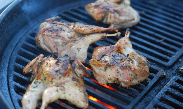 Rosemary Lemon Grilled Quail