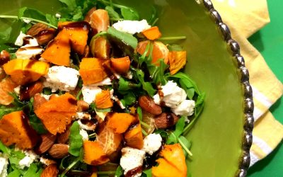 Winter Blues Salad: Sweet Potatos, Almonds, Goat Cheese, Mandarin Oranges, and Craisins on a Bed of Arugula; PLUS, A Little Venting…