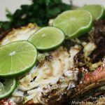 Grilled Whole Snapper Recipe by Michelle Lara // Cupcakes, Cocktails & Kids