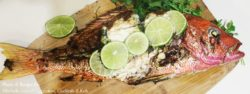 grillgirl, grilled lime cilantro red snapper