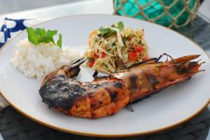 wild caught ocean prawns_grilled soy ginger shrimp_asian shrimp