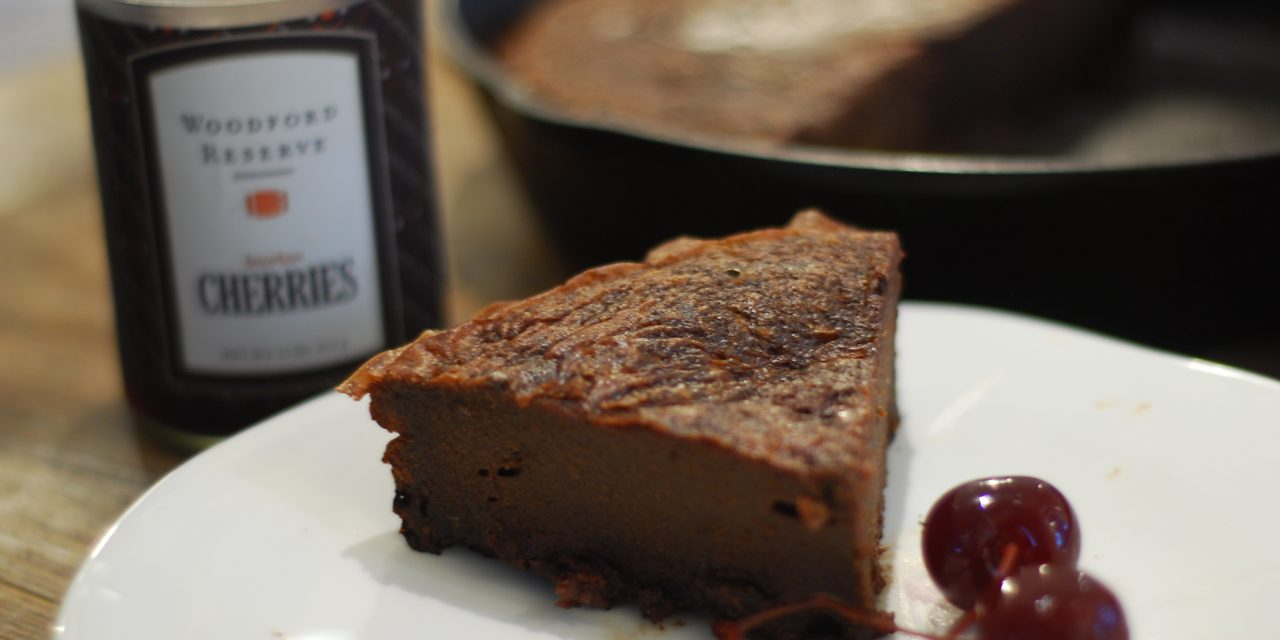 Bourbon Cherry Chipotle (Flourless) Dark Chocolate Cake