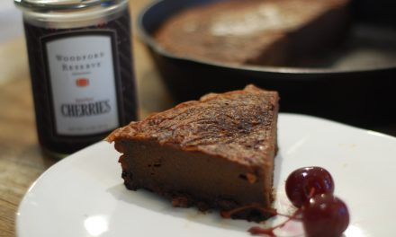 Bourbon Cherry Chipotle (Flourless) Dark Chocolate Cake