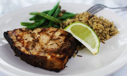 Herb Marinated Grilled Swordfish Steaks