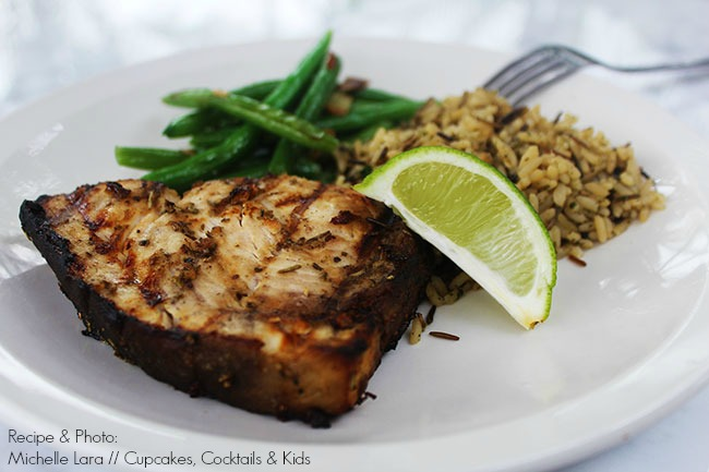 Grilled Lemon Herb Swordfish Steaks
