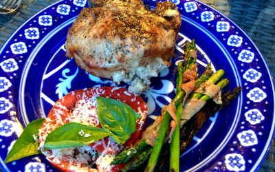 Apple, Walnut and Gorgonzola Stuffed Pork Chops
