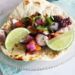 Grilled Pulpo Tacos // Michelle Lara