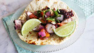 Grilled Pulpo Tacos // Michelle Lara
