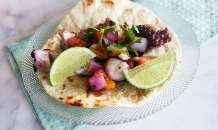 Grilled Pulpo {Octopus} Tacos