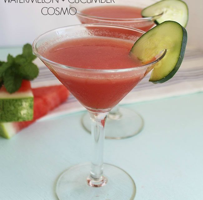 GRILLED WATERMELON + CUCUMBER COSMO