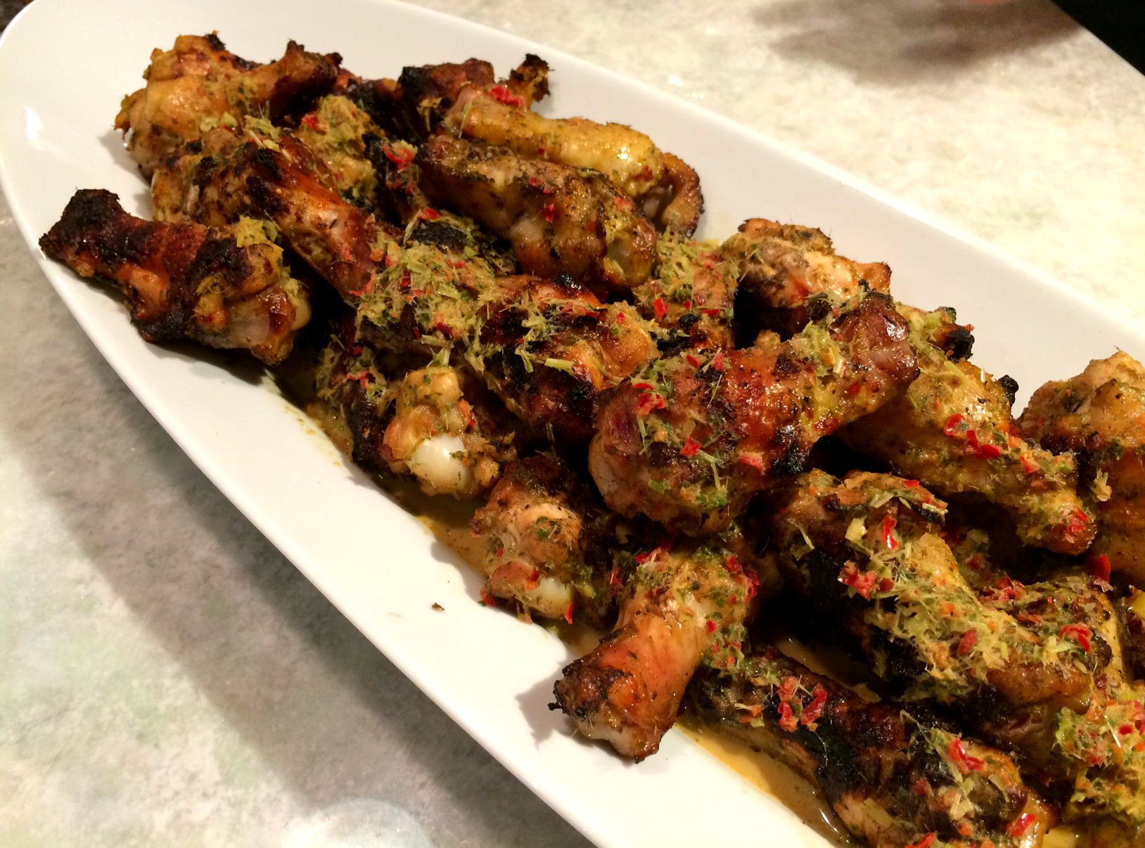 Chile Lemongrass Basil Wings