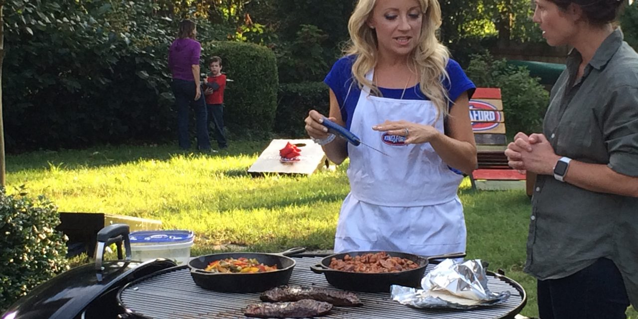 "Grill for the Win: Host A Gameday Party with a ""Build Your Own Fajita Bar"""