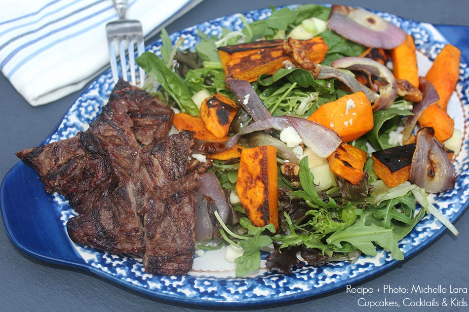 Grilled Butternut Squash Salad | Michelle Lara