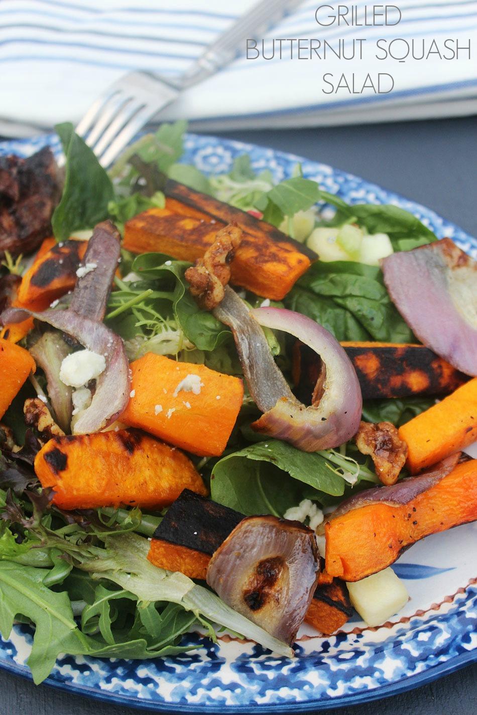 Grilled Butternut Squash Salad