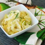 apple fennel slaw, fennel apple slaw, no mayo slaw recipe