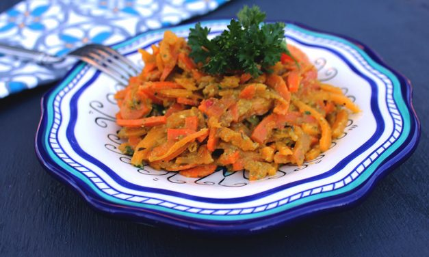 Butternut Squash & Sweet Potato Pesto 'Spaghetti'