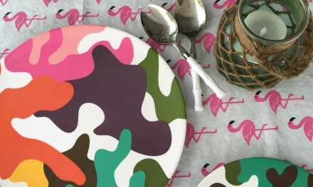 French Bull Glamo Camo Melamine Dinnerware #Giveaway