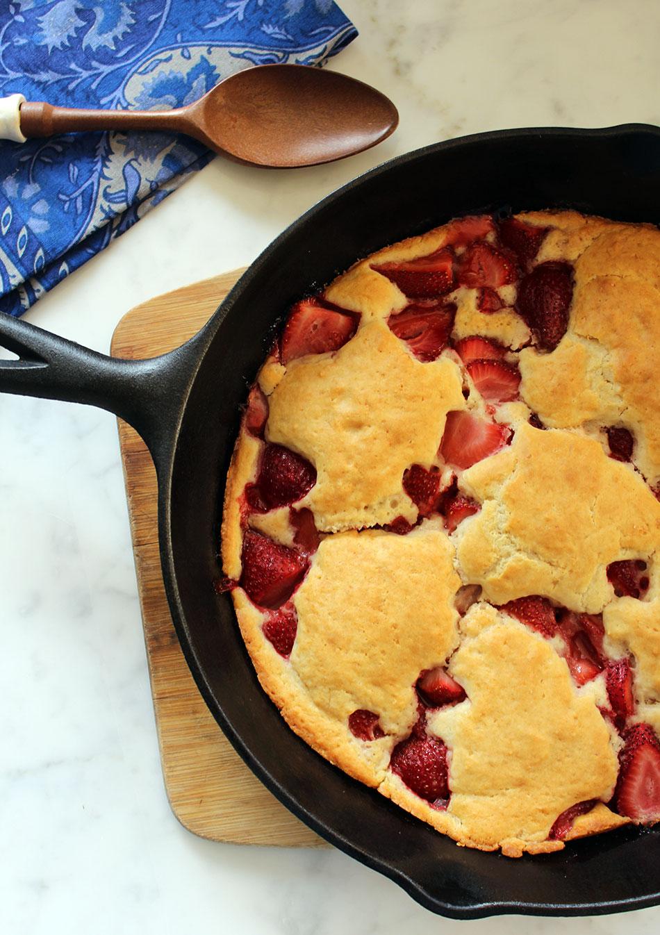 Cast Iron Strawberry Shortcake   Photo + Recipe Contributed by Michelle Lara