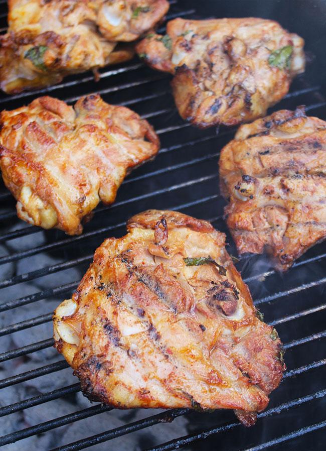 Grilled Ginger & Pineapple Herb Chicken | Michelle Lara