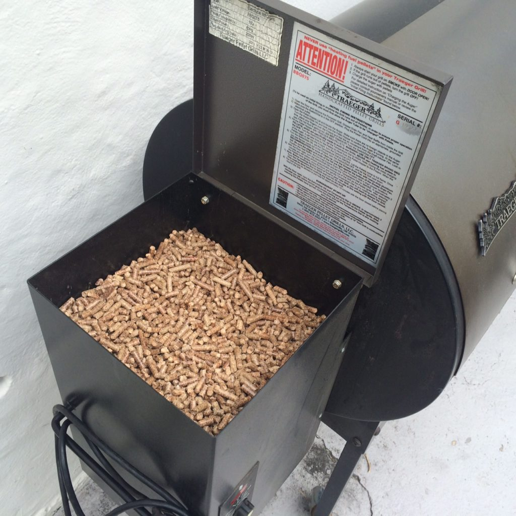 Wood Pellets in the smoker box.