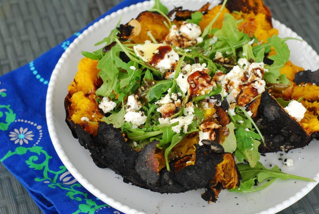 Ember roasted pumpkin salad grill girl robyn