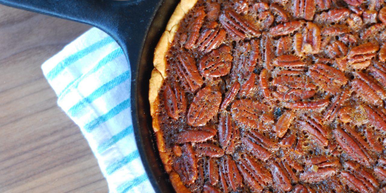 grillgirl, Bourbon and smoked pecan pie, smoked pecan pie