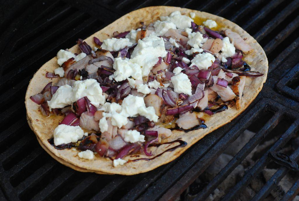low carb grilled flatbread pizza