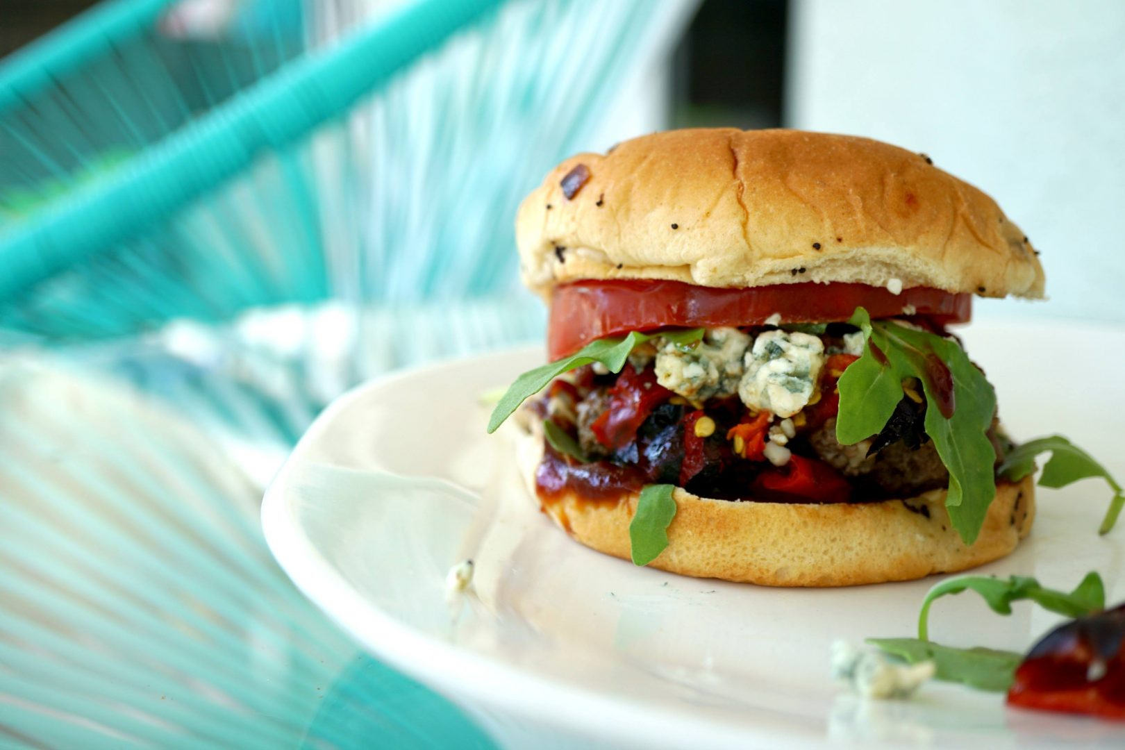 Red White And Blue Burgers On The Pitbarrel Cooker Grillgirl