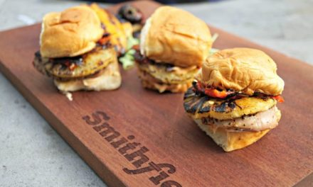 Hawaiian Grilled Pineapple and Pepper Pork Tenderloin Sliders