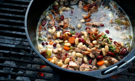 Bacon, Pork & Guinness Cassoulet (Dutch Oven Pork and Beans)