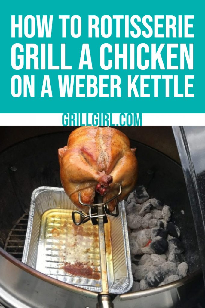 how to rotisserie grill a chicken on a Weber kettle