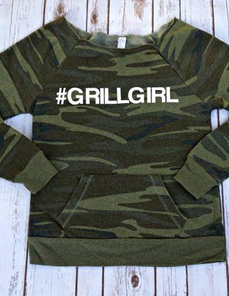 GrillGirl Camo Sweatshirt