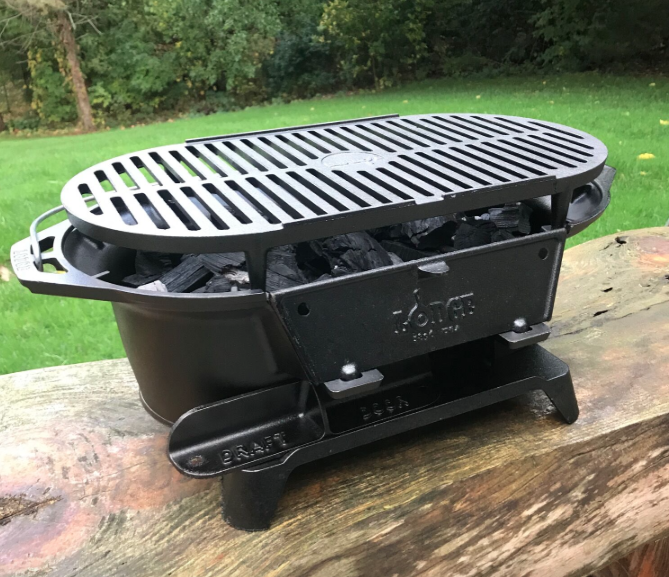 Grill Review: Lodge L410 Pre-Seasoned Sportsman's Charcoal Grill