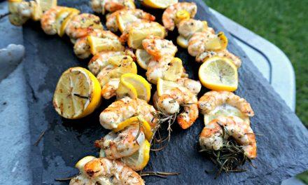 Rosemary Lemon Shrimp Skewers