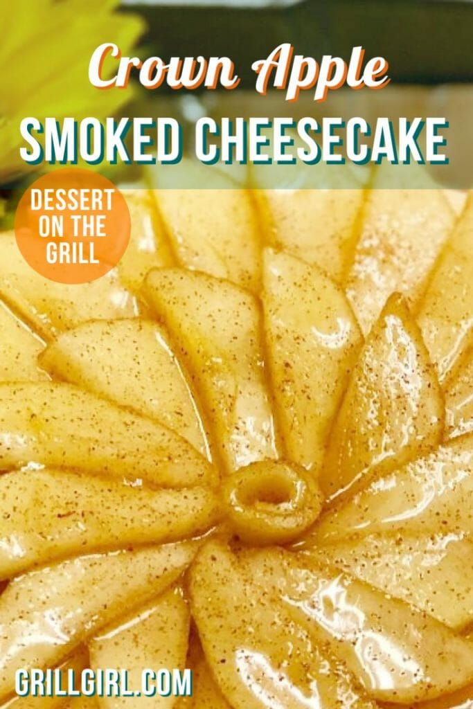 Smoked cheesecake recipe, cheesecake recipe, crown apple cheesecake