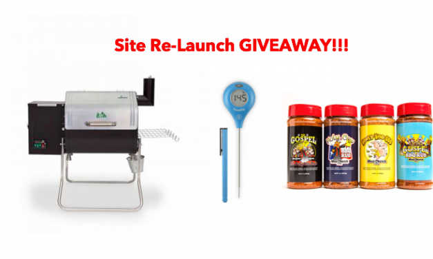 Website Re-Launch GRILL GIVEAWAY