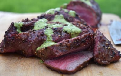 Smoked Tri Tip with Chimichurri