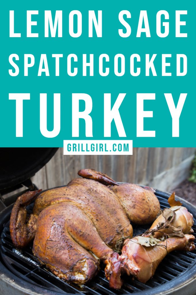 lemon sage spatchcocked turkey